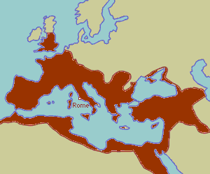 Roman empire at its maximal extent (AD 117)