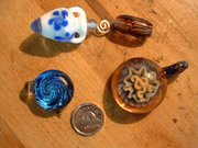 Hand-blown glass beads and pendants